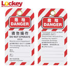Universal Warning Scaffold Safety Tags Customized ABS Scaffolding Hasp Lockout Tag
