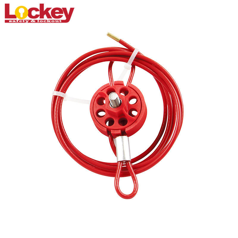 Wheel Type Cable Lockout Device Loto Lock Body Accepts Up To 8 Padlocks